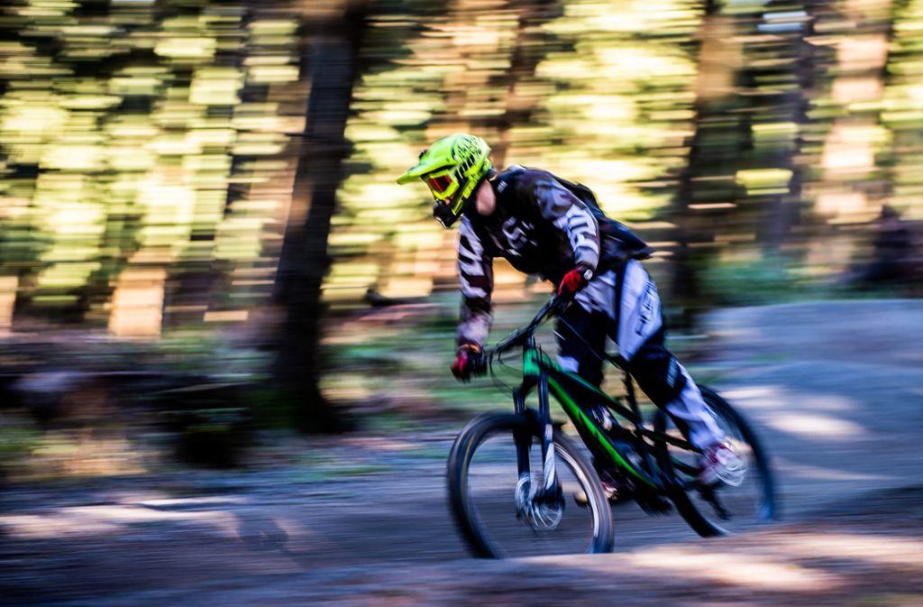 Mountainbiker haben im Wald bei Böblingen Schanzen und Hindernisse gebaut, sagt die US-Armee. Foto: dpa/Swen Pförtner