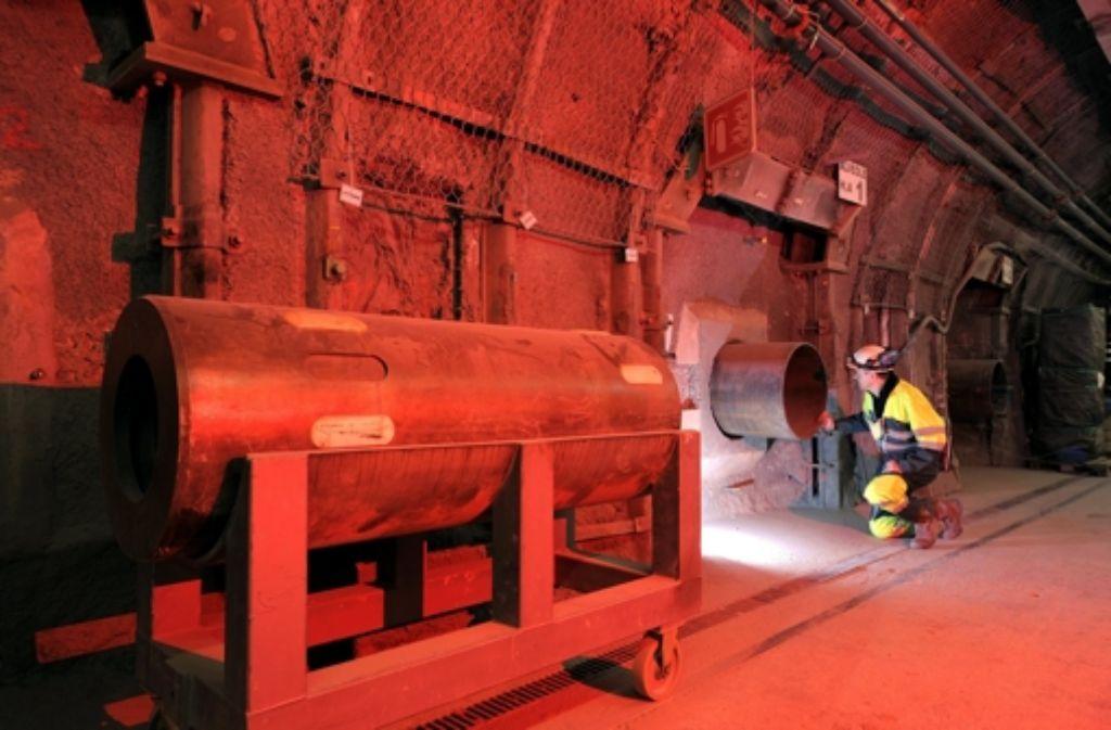 Dieses Bild im geplanten Atomendlager im französischen Bure entstand im Januar 2013. Foto: dpa