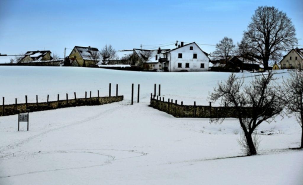 Die  Rekonstruktion des  Zangentors bei Erkenbrechtsweiler Foto: Horst Rudel