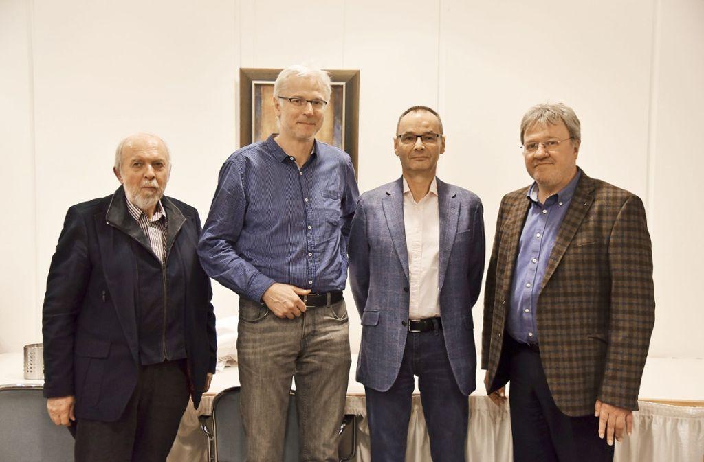 Vier der FDP-Kandidaten: Jörg Schweikhardt, Hartmut Sigel, Hans Dieter Scheerer und Norbert Flögel. Foto: FDP