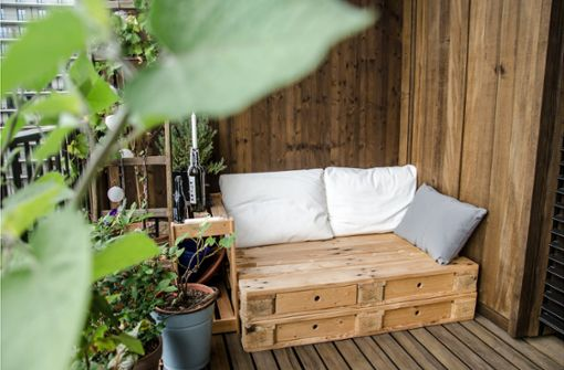 Schöner wohnen auf dem Balkon
