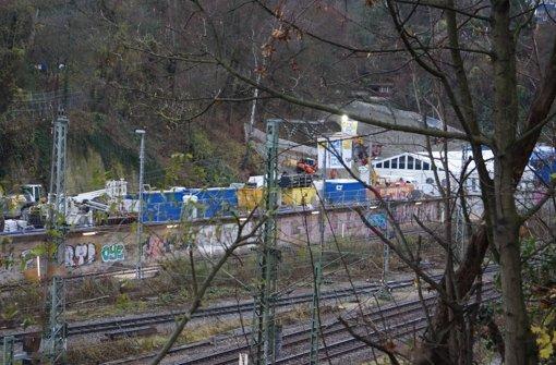 Vom sogenannten Zwischenangriff Prag aus wird der Feuerbacher Tunnel gebaut. Der Auftakt der Arbeiten erfolgte in aller Stille. Foto: Fritzsche