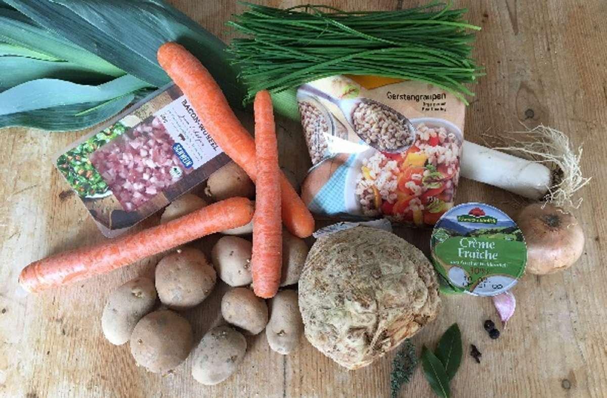 Die Zutaten für die Gerstensuppe. Foto: Weier