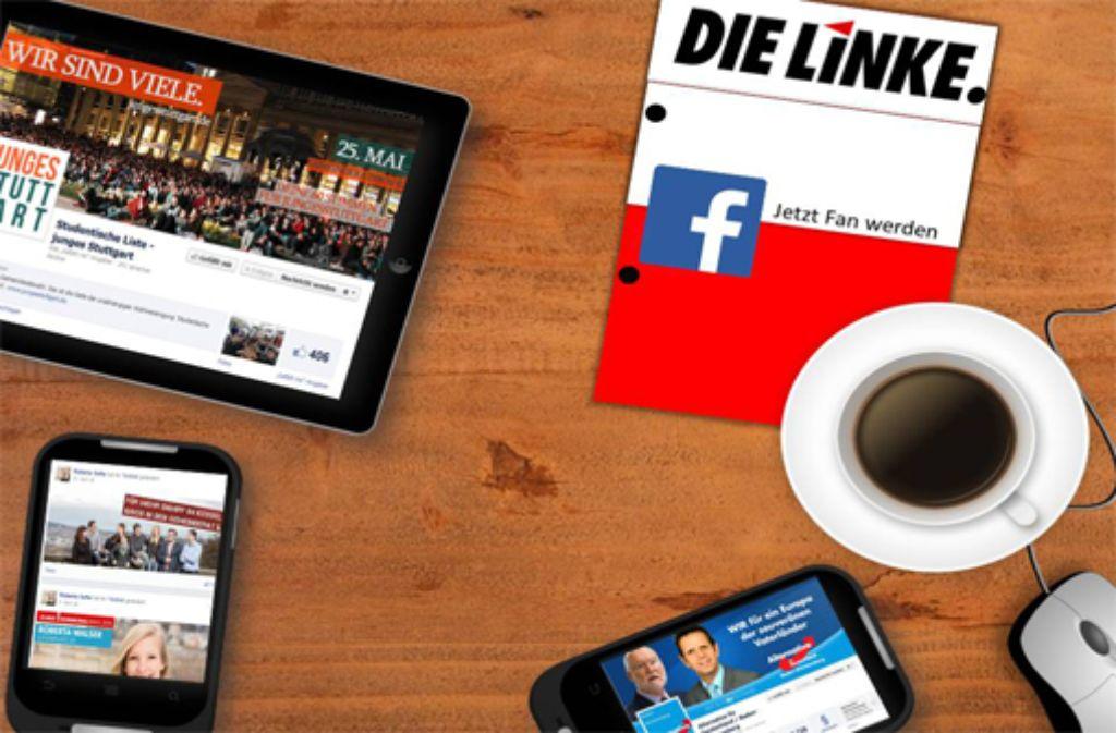 Social Media spielte auch bei der Kommunalwahl eine Rolle. Welche genau, das haben uns Vertreter verschiedener Parteien erzählt. Foto: Montage: Lucas Kesselhut Fotos: Parteien