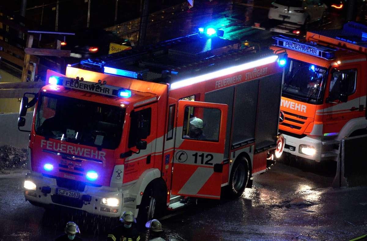 Die Feuerwehr ist am Sonntagabend wegen eines Containerbrandes ausgerückt. Foto: 7aktuell.de/Alexander Hald/7aktuell.de | Alexander Hald