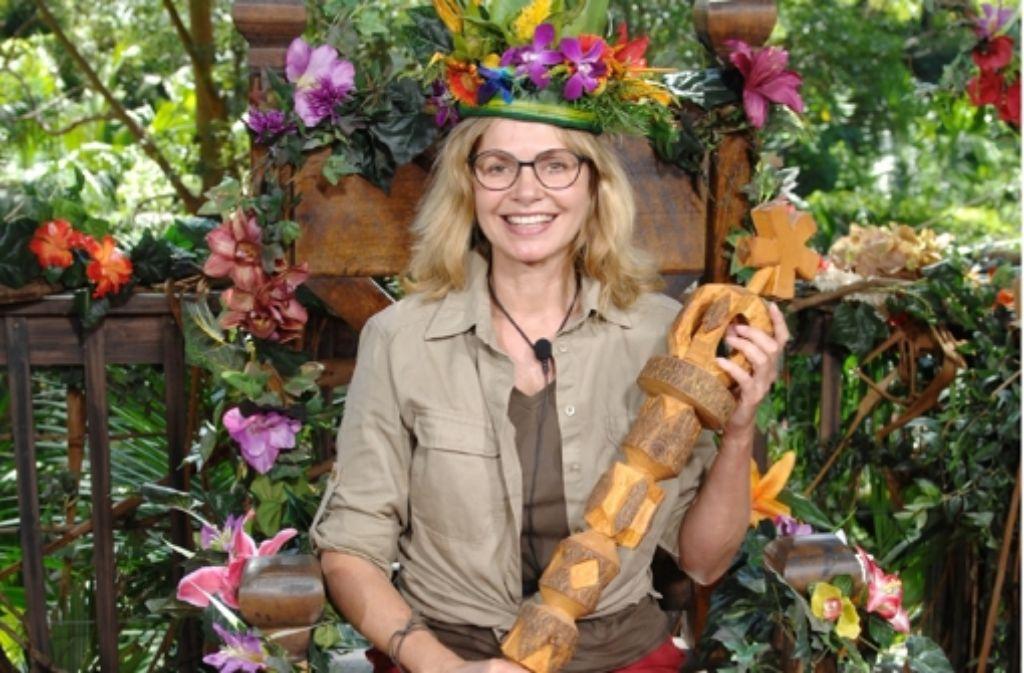 Maren Gilzer ist die strahlende Dschungelkönigin. Foto: RTL