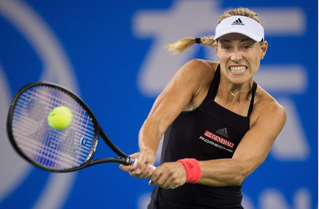 Wimbledon-Siegerin Angelique Kerber hat beim WTA-Turnier im chinesischen Wuhan die Runde der letzten 16 erreicht. Foto: AFP