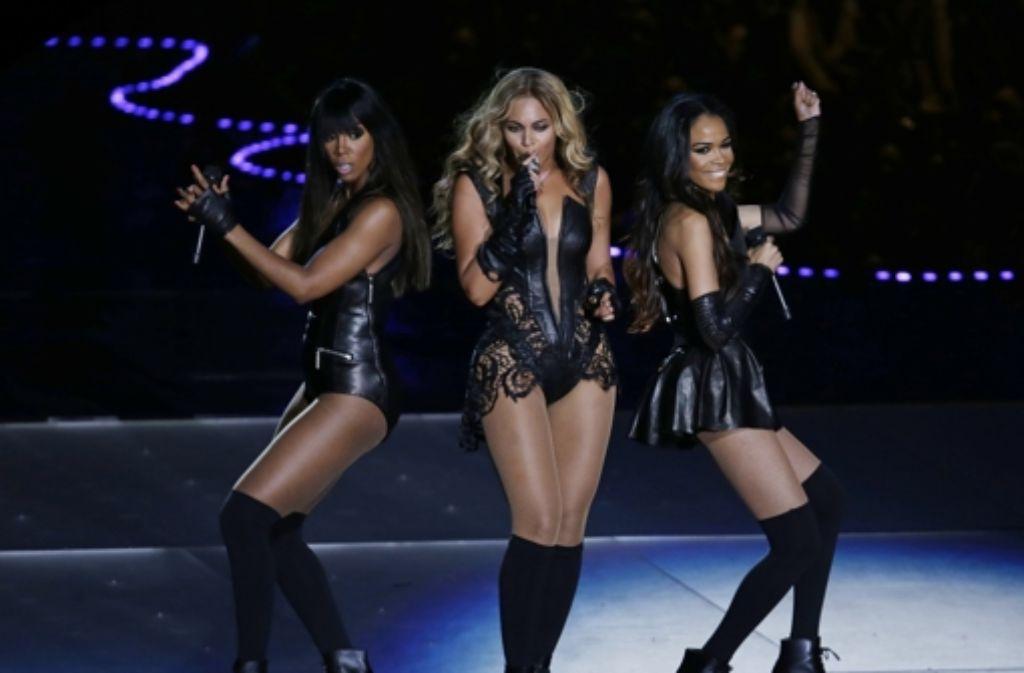 Beim Super Bowl 2013 gab es eine kleine Reunion von Destiny's Child mit Beyoncè als Mittelpunkt. Foto: AP