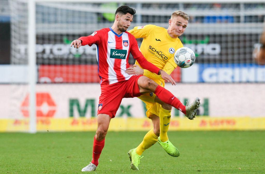 Das Topspiel der 2. Bundesliga zwischen Heidenheim und Bielefeld endete 0:0. Foto: dpa/Tom Weller