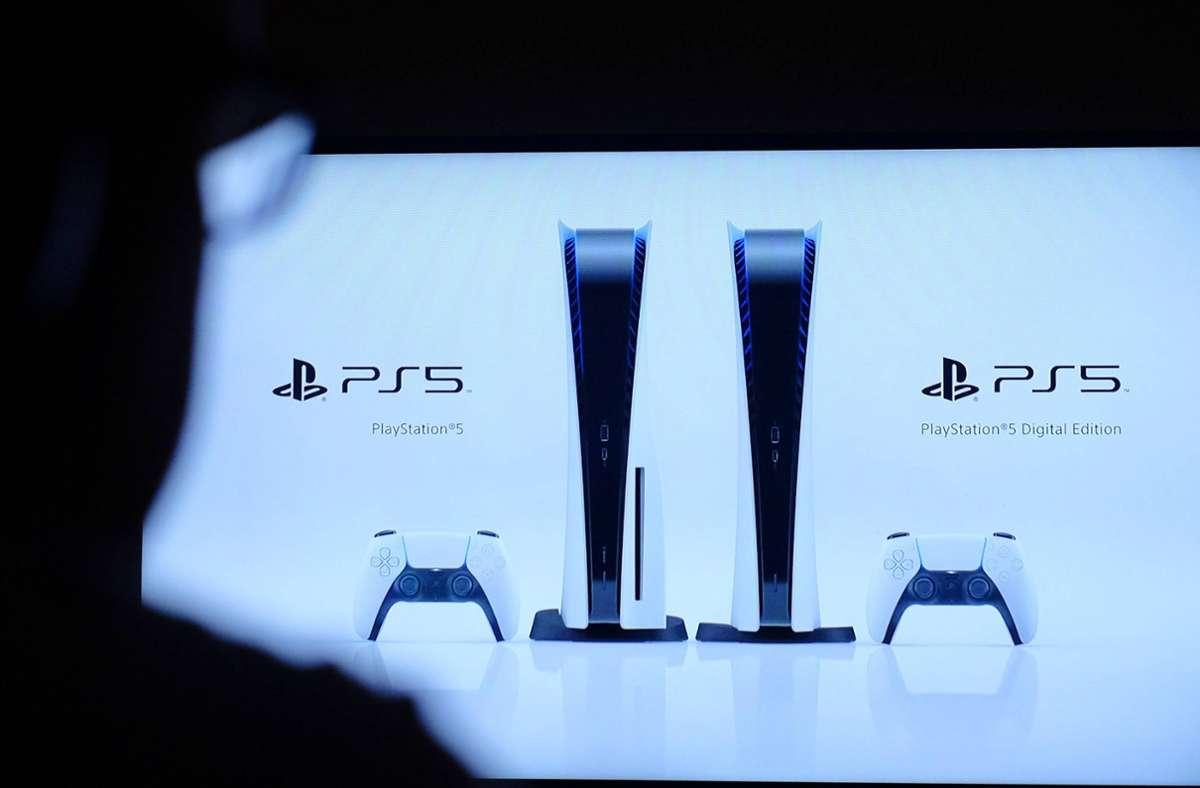 Die neue Playstation bei der Vorstellung im Juni. Foto: imago images/PA Images/Katie Collins via www.imago-images.de