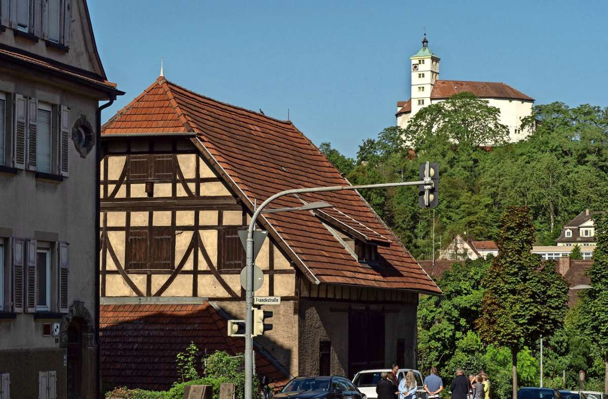 Stattliches Baudenkmal nahe des Vaihinger Ortszentrums: die Engel'sche Stallscheune. Foto: factum/Andreas Weise Foto: