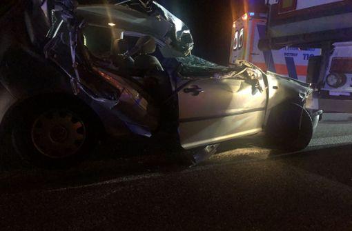 69-Jähriger bei Autounfall schwer verletzt