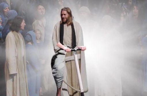 Tierschützer fordern: Jesus soll E-Scooter fahren