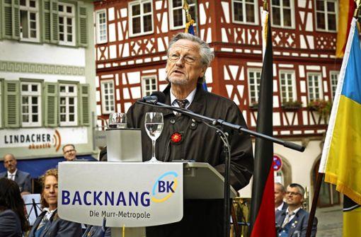 Backnang empfängt Peter Brandt