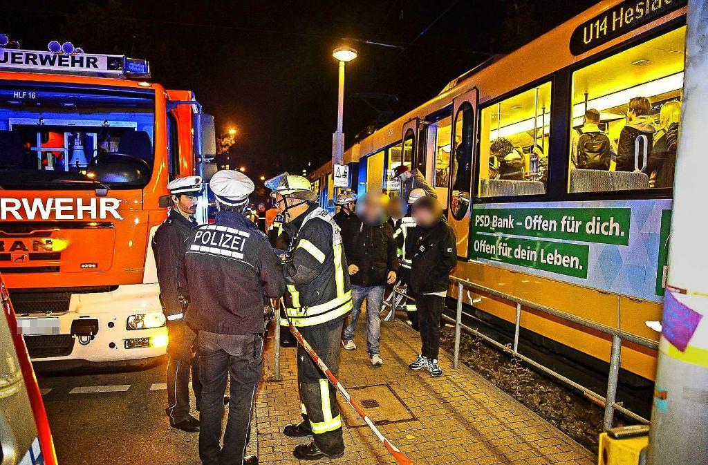 3. November 2016: Einer von vier Stadtbahn-Unfällen in der Schlossstraße. Foto: 7aktuell