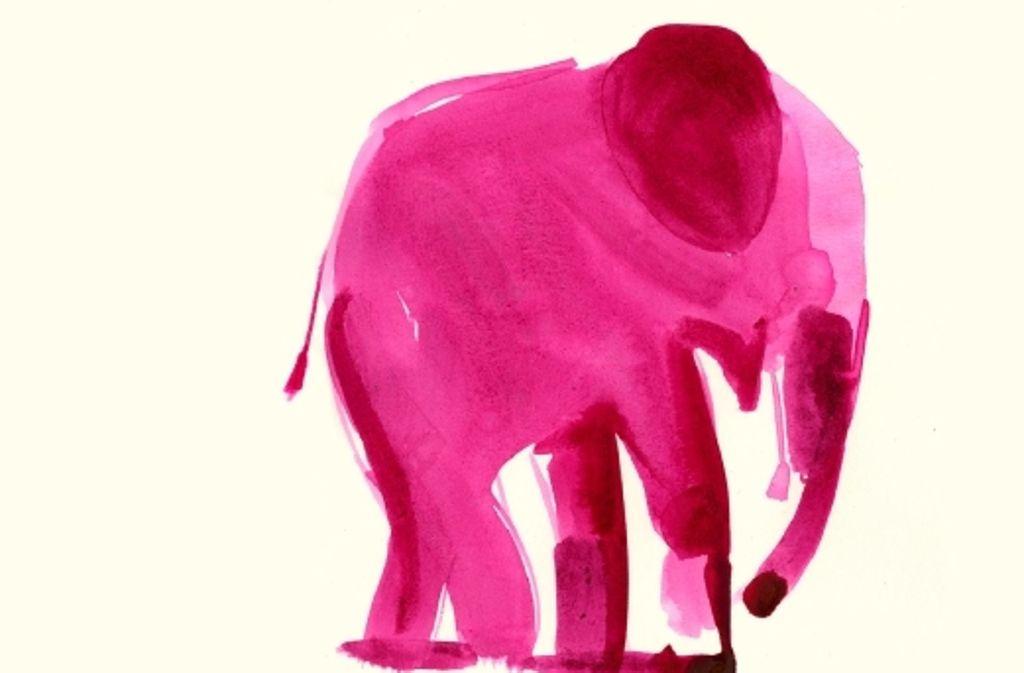 In Martin Suters neuem Roman ist ein rosaroter Elefant den Laboren skrupelloser Genforscher entsprungen. Foto: Verlag