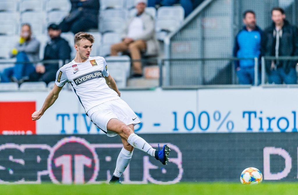 Spielt Sasa Kalajdzic von Admira Wacker Mödling seine Pässe bald für den VfB Stuttgart? Foto: picture alliance /