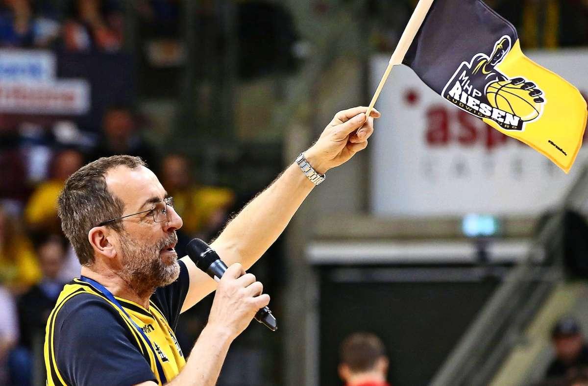 Volker Kugels Herz schlägt für die MHP Riesen Ludwigsburg. Foto: Baumann/Keppler