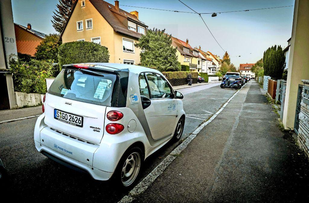 Ein Car2go-Smart wartet auf den nächsten Nutzer. Foto: Lichtgut/Achim Zweygarth
