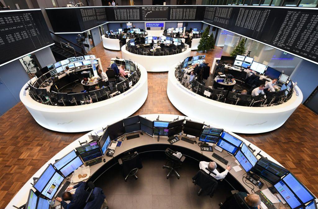 Der Handelssaal der Börse in Frankfurt. Foto: dpa