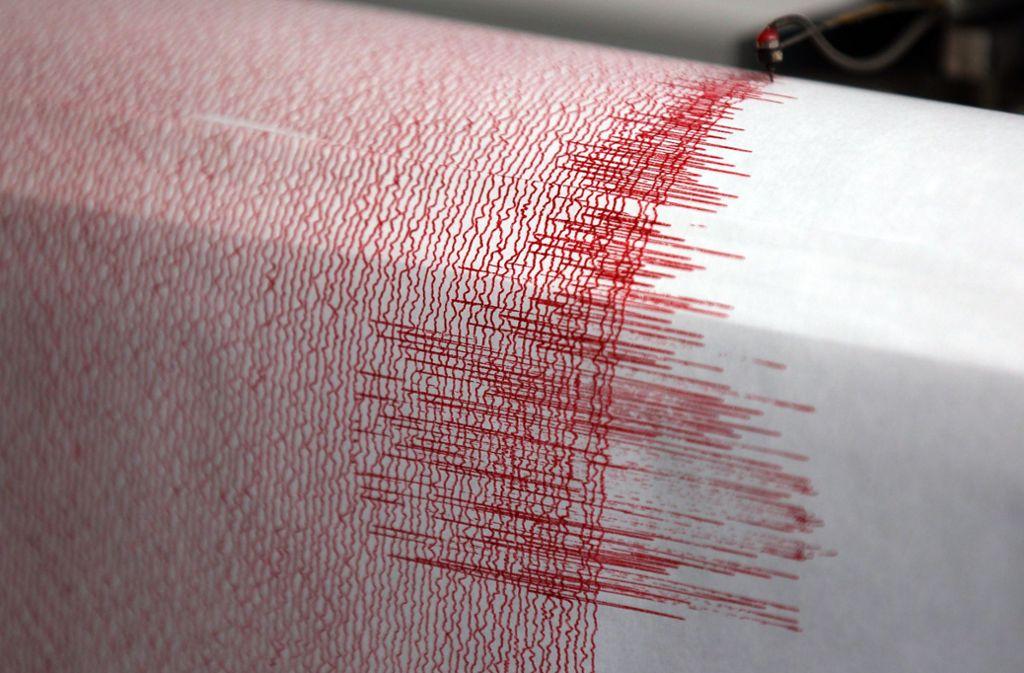 Erdbeben können anhand von Seismographen gemessen werden. Foto: Oliver Berg/dpa/Oliver Berg