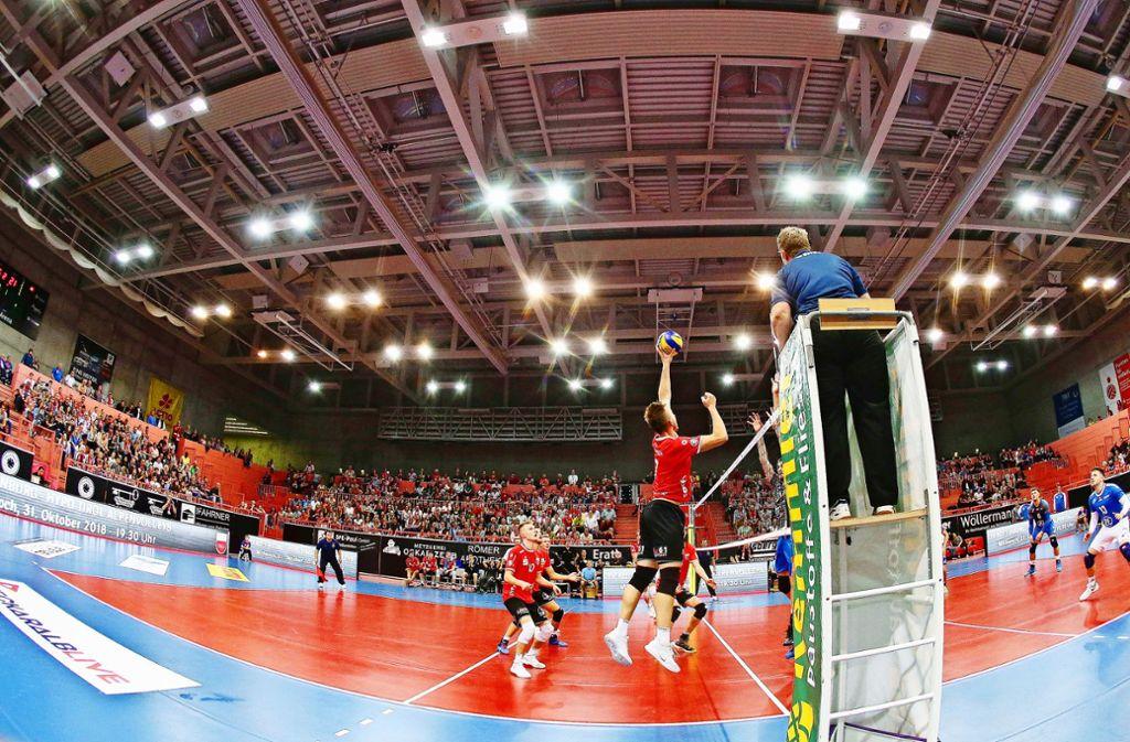 Volleyball-Hochburg TV Rottenburg, der in Tübingen spielt. Foto: Pressefoto Baumann