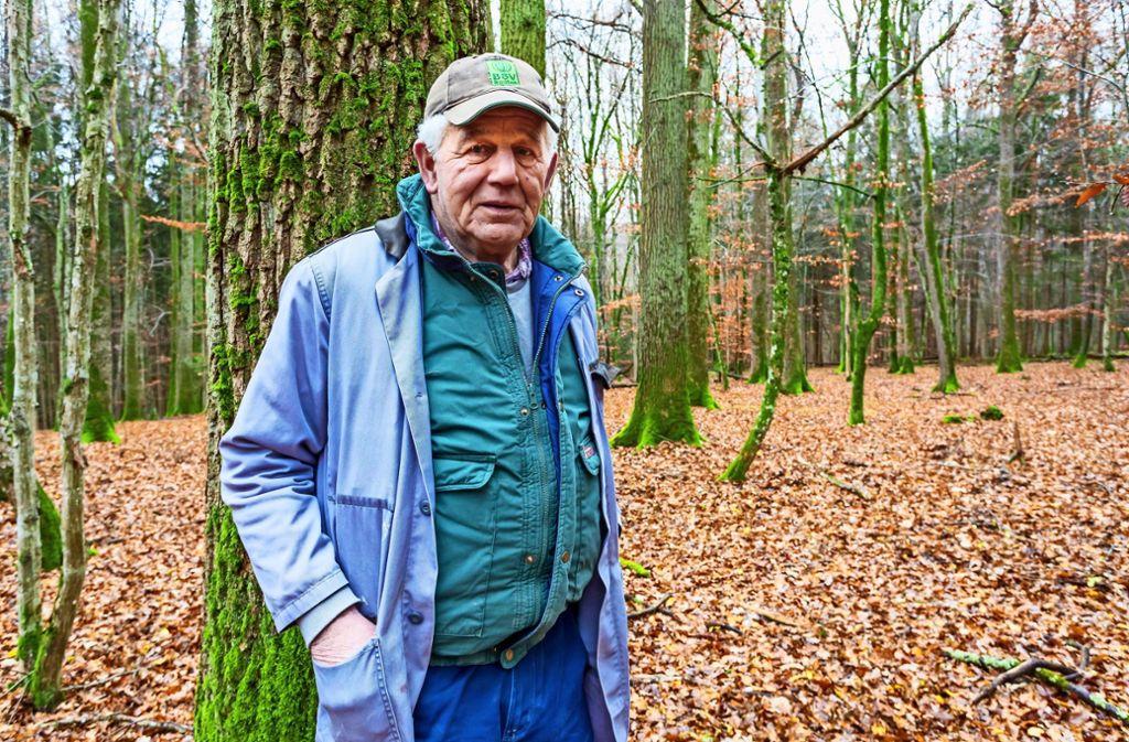 Walter Vohl gehört noch zu den größeren Waldbesitzern. Foto: Thomas Krämer