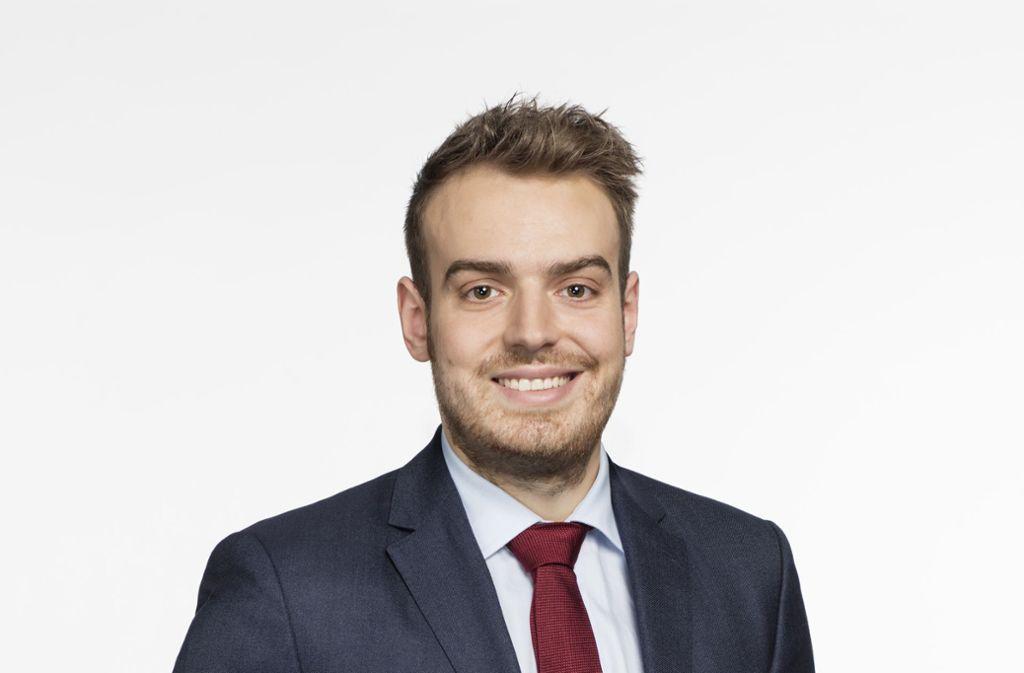 Der 28-jährige Valentin Christian Abel ist Chef der Jungen Liberalen im Südwesten. Foto: StZ