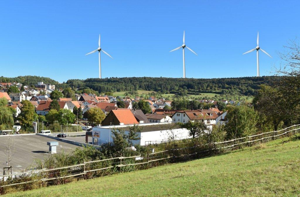 Höher als der Stuttgarter Fernsehturm sollen die drei Windräder werden. Foto: Stadt Heimsheim