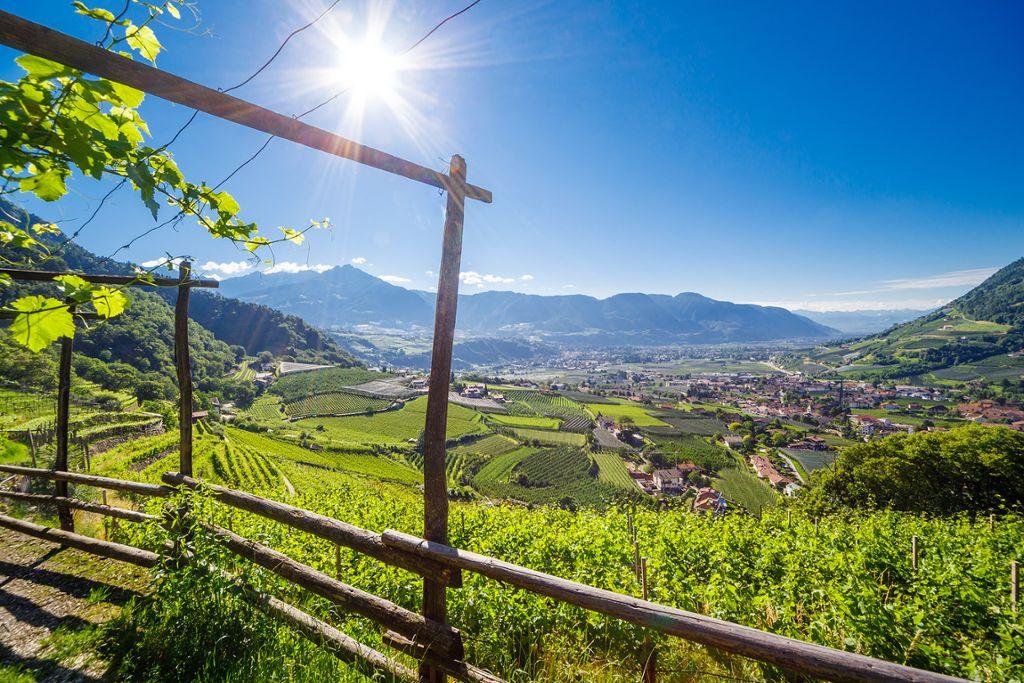 Panorama über das Gartendorf Algund und das Meraner Land  Foto: TV Algund/Christian Gufler
