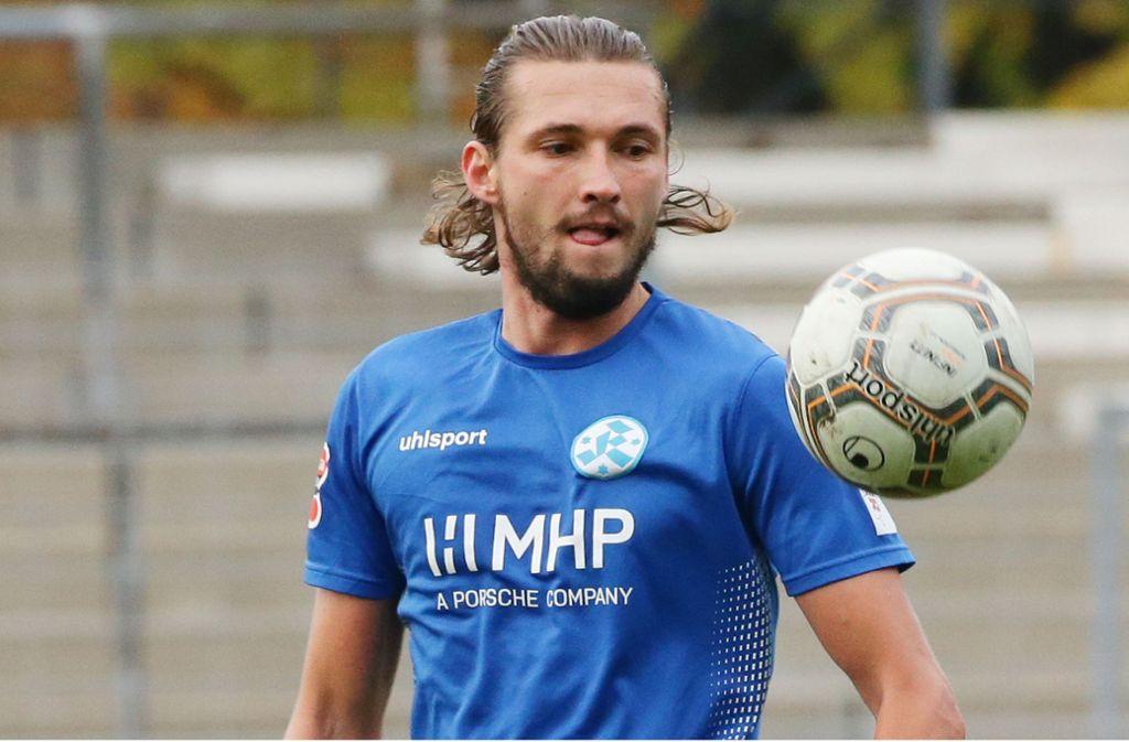 Zwei Tore beim Testspielsieg beim Verbandsligisten 1. FC Heiningen: Kickers-Torjäger Mijo Tunjic. Foto: Baumann