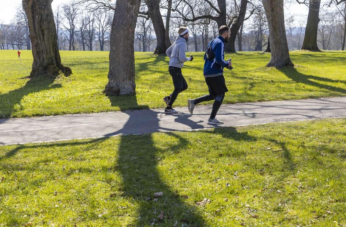 Im Wald, über Felder, auf dem Trimm-Dich-Pfad – beim virtuellen Stuttgart-Lauf entscheiden die Sportler selbst, wo sie laufen (Symbolbild). Foto: imago/Arnulf Hettrich