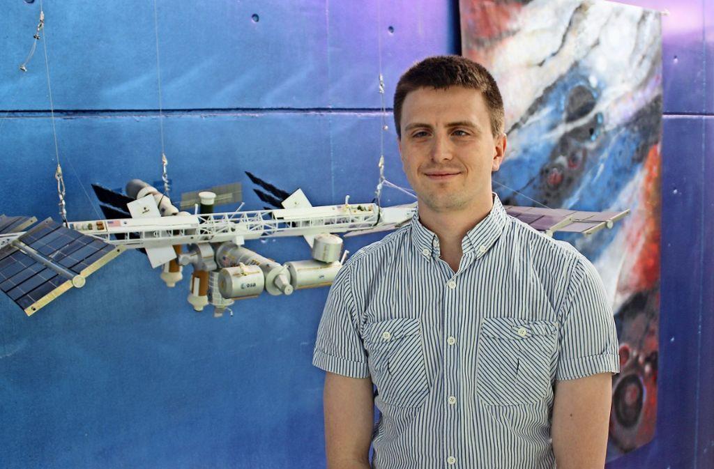 Manfred Ehresmann ist gespannt auf den Test der Pumpe im Weltraum Foto: Christoph Kutzer