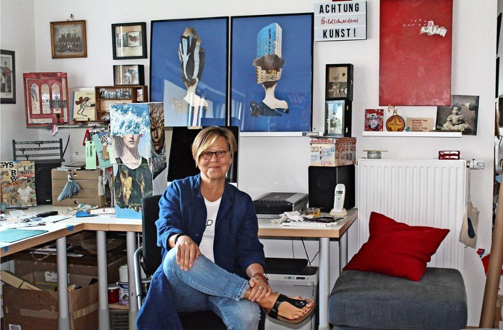 Susanna Lakner in ihrem Atelier an der Möhringer Landstraße Foto: Sabine Schwieder