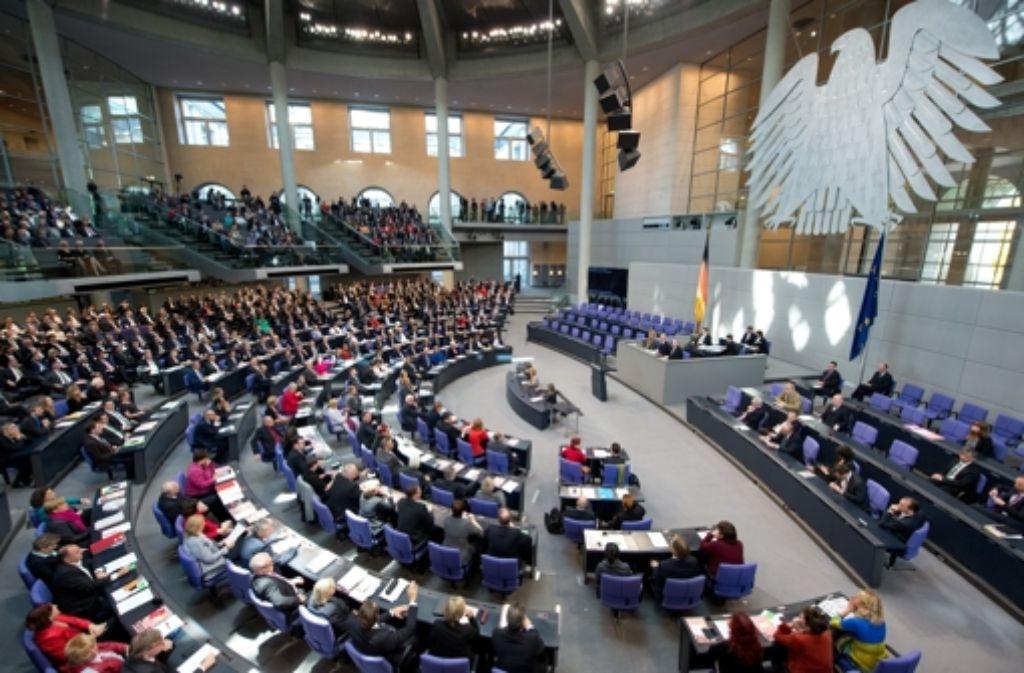 Volles Haus: der neue Bundestag bei seiner konstituierenden Sitzung Foto: dpa