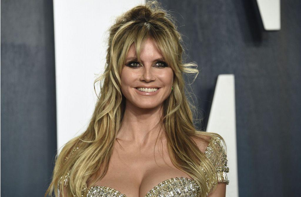 Während Heidi Klum bei der Party der Vanity Fair (im Bild) eher unauffällig gekleidet war, sorgte ihr Outfit bei der Party von Elton John für Gesprächsstoff. Foto: AP/Evan Agostini