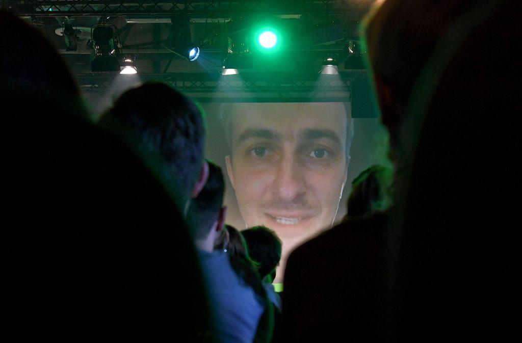 Jan Böhmermann sprach per Video-Zuschaltung auf der Netzkonferenz re:publica in Berlin. Foto: dpa-Zentralbild