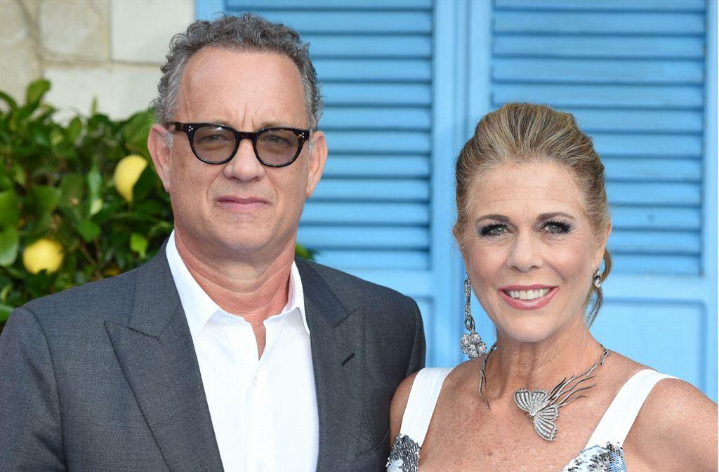 Wieder gesund: Tom Hanks und Rita Wilson Foto: AFP/Anthony Harvey
