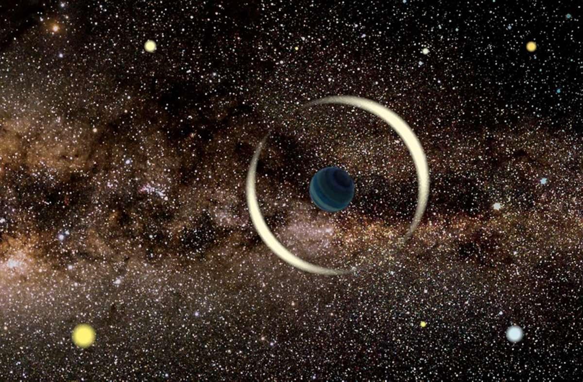 Schurkenplaneten wie OGLE-2016-BLG-1928  (Computersimulation) sind  vagabundierende Himmelskörper  von  planetarer Masse, die eine Galaxie direkt umkreisen. Foto: Jan Skowron/Astronomical Observatory, University of Warsaw/dpa
