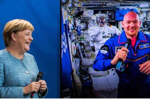 """Bundeskanzlerin spricht live mit """"Astro-Alex"""""""