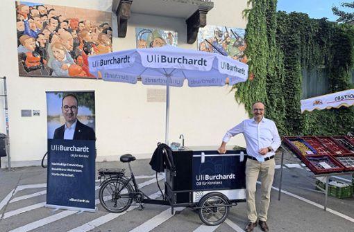 Mit dem Lastenrad auf Wahlkampftour
