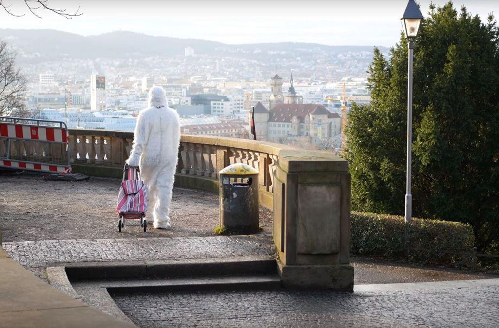 """Der Eugensplatz liegt nur gefühlt in Stuttgart-Ost, kommt aber in Nasims Video """"Yeti"""" vor. Weitere einzigartige Ecken aus dem Video zeigt die Bilderstrecke. Foto: Nasim (Youtube-Screenshot)"""