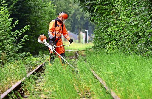 Weniger  Glyphosat an Gleisen ist das Ziel