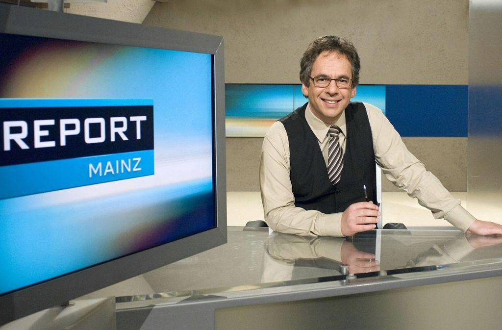 "Mit ""Report Mainz"" (hier Moderator Fritz Frey) wird das neue  Recherche-Team eng kooperieren. Foto: ARD"
