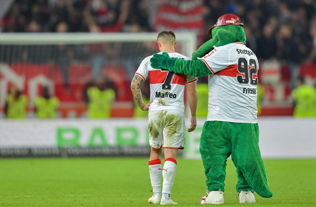 Pablo Maffeo wird beim VfB Stuttgart wohl nicht mehr glücklich. Foto: dpa