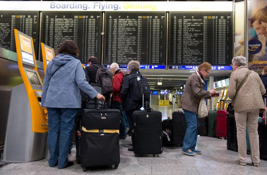 Frankfurter Flughafen Abflüge