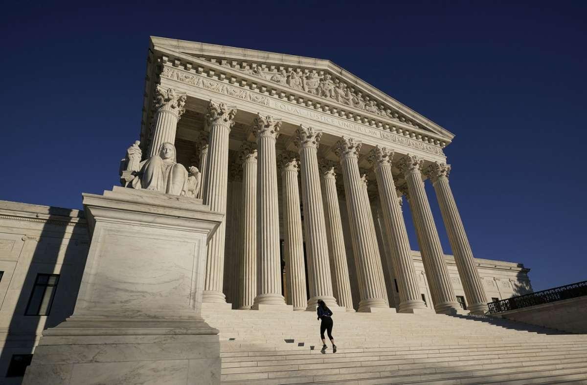 Der Oberste Gerichtshof (Supreme Court) in Washington. (Symbolbild) Foto: dpa/J. Scott Applewhite