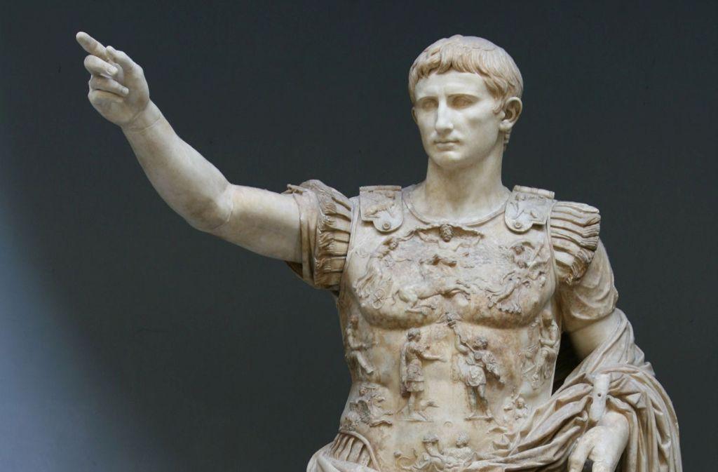 John Williams macht ein Standbild zum Menschen: Augustus von Prima Porta (20 bis 17 v. Chr.)  aus der Villa Livia in Prima Porta Foto: Wikipedia