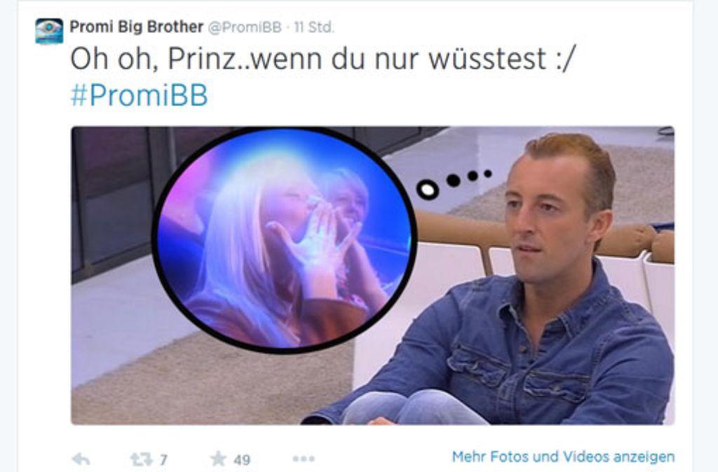 Promi Big Brother-Kandidat Prinz Mario-Max zu Schaumburg-Lippe hat Herzschmerz. Foto: https://twitter.com/PromiBB