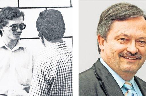 Klaus Herrmann bei einer Aktion der Jungen Union und heute. Foto: factum/Granville